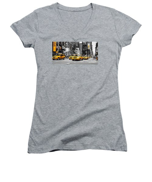 Nyc Yellow Cabs - Ck Women's V-Neck