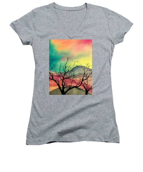 October Sky Women's V-Neck T-Shirt