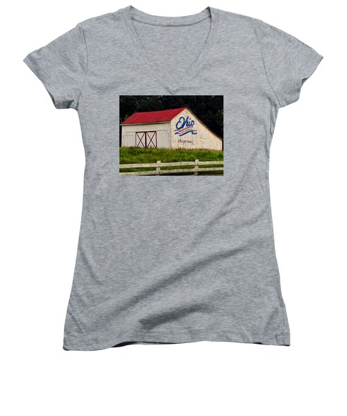 Ohio Bicentennial Barn Women's V-Neck (Athletic Fit)
