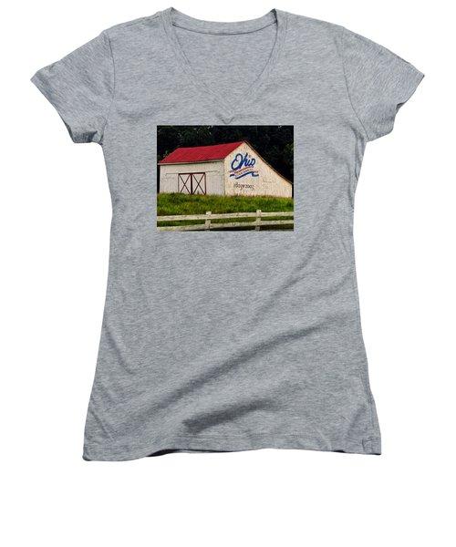Ohio Bicentennial Barn Women's V-Neck