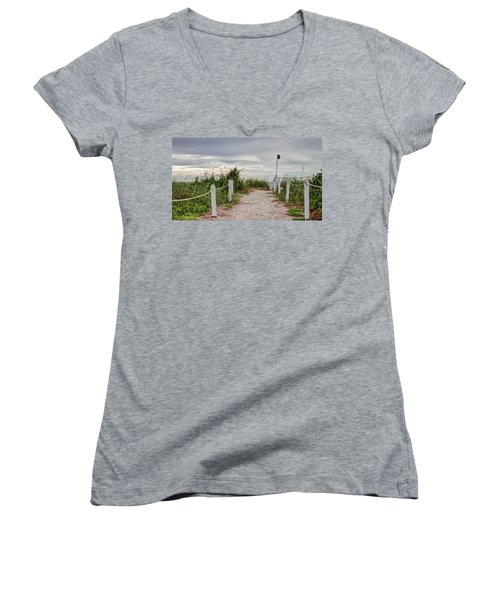 Pathway To The Beach Women's V-Neck