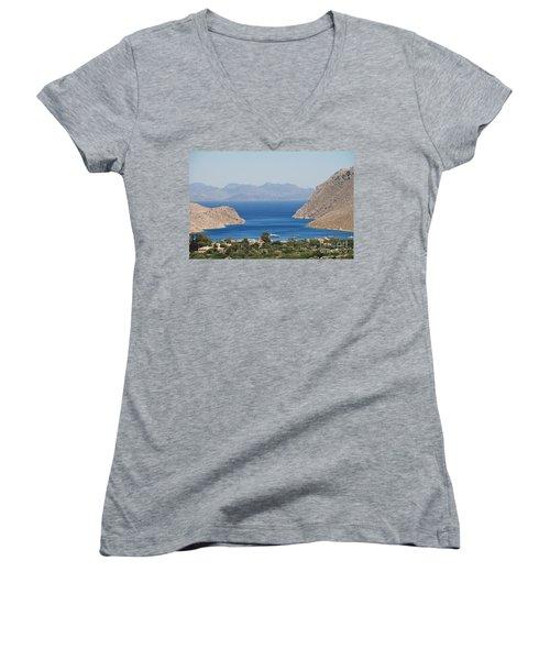 Pedi Bay Symi Women's V-Neck T-Shirt