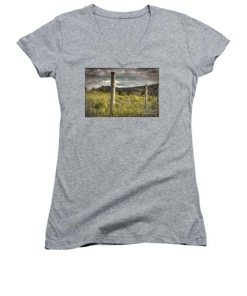 Prairie Fence Women's V-Neck T-Shirt