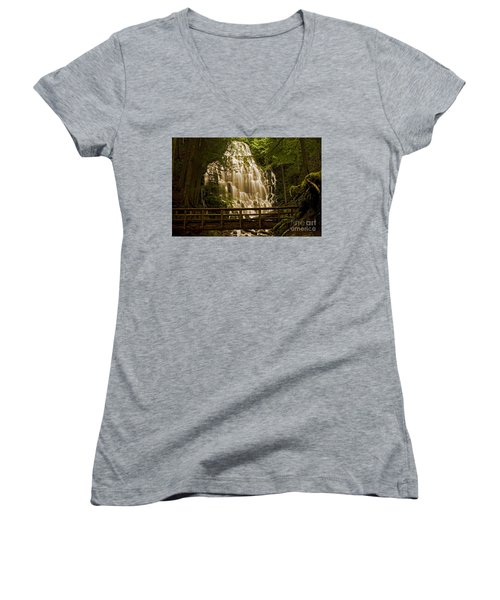 Ramona Falls Women's V-Neck T-Shirt