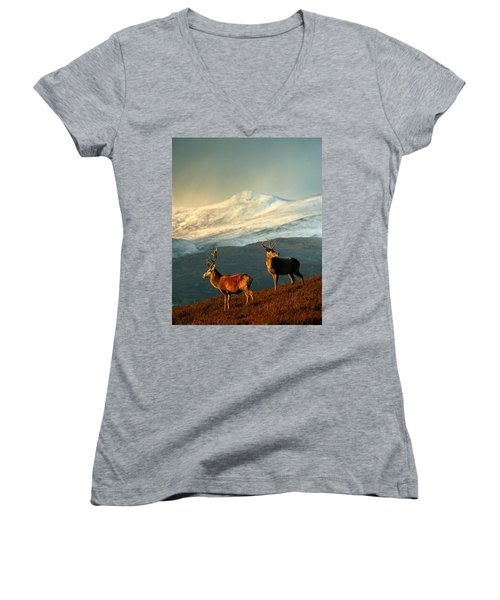 Red Deer Stags Women's V-Neck