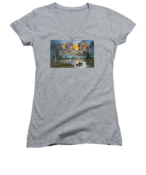 River Yare On The Broads Women's V-Neck