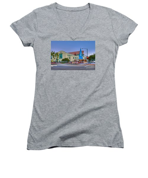 Roy E. Disney Animation Building In Burbank Ca. Women's V-Neck (Athletic Fit)