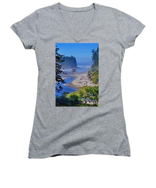 Ruby Beach Women's V-Neck T-Shirt