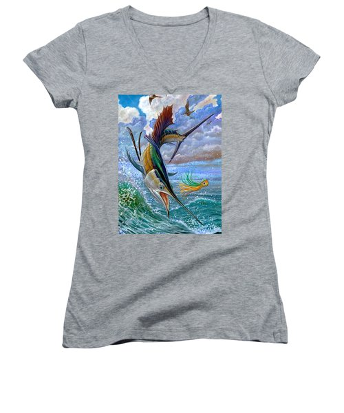 Sailfish And Lure Women's V-Neck