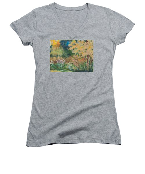 Saturday Morning Women's V-Neck T-Shirt (Junior Cut) by Lee Beuther