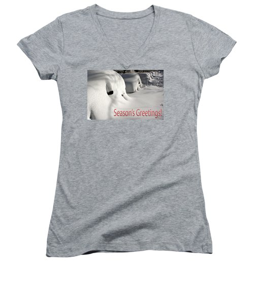 Season's Greetings Women's V-Neck