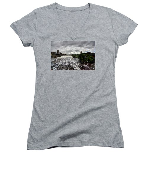 St Anthony Falls Women's V-Neck T-Shirt