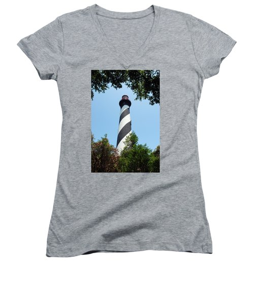 St. Augustine Lighthouse Women's V-Neck