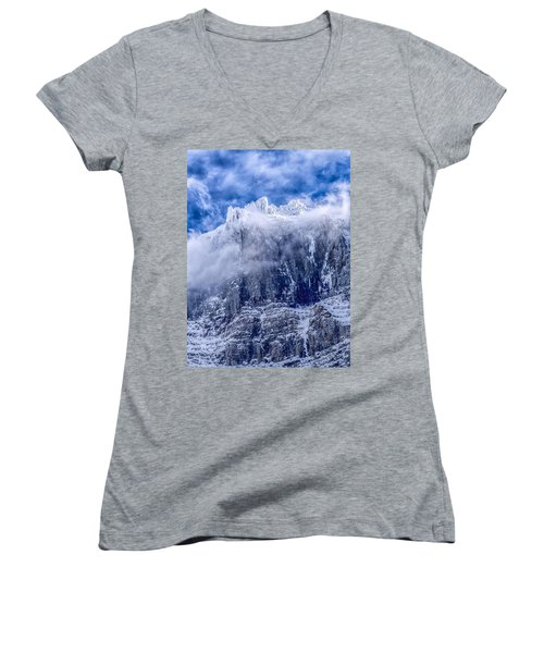 Women's V-Neck T-Shirt (Junior Cut) featuring the photograph Stone Cold by Aaron Aldrich