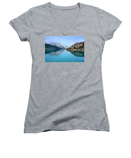 Symmetry Women's V-Neck T-Shirt (Junior Cut) by Kristin Elmquist