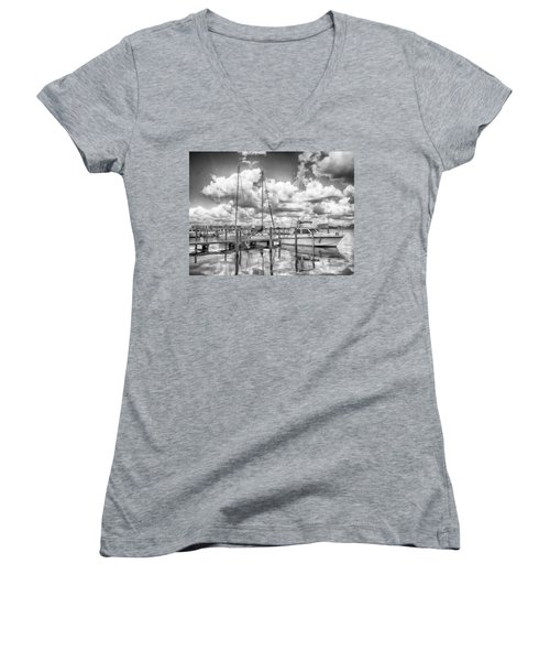 Women's V-Neck featuring the photograph The Boat by Howard Salmon
