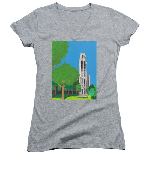 The Cathedral Of Learning Women's V-Neck