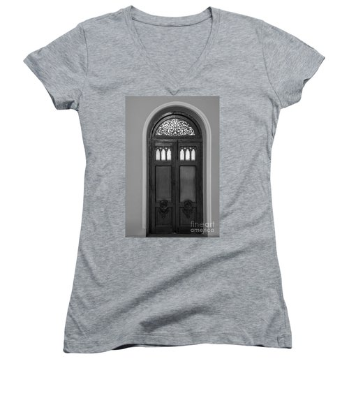 The Closed Door Women's V-Neck (Athletic Fit)