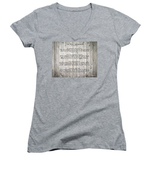 The Four Agreements Women's V-Neck (Athletic Fit)