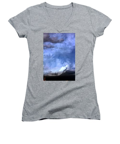 There Be A Storm A Brewin In Nebraska Women's V-Neck