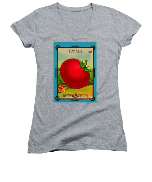 Tomato Seed Package. Antique. 100 Years Old Women's V-Neck (Athletic Fit)