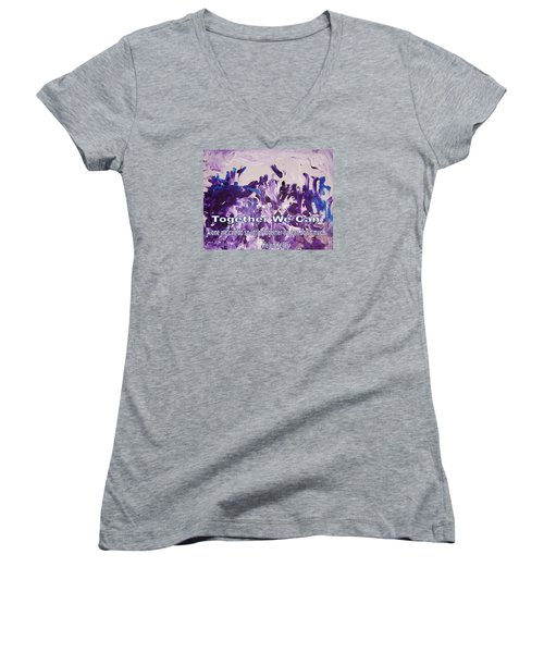 Together We Can Women's V-Neck (Athletic Fit)