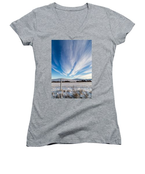 Under Wyoming Skies Women's V-Neck