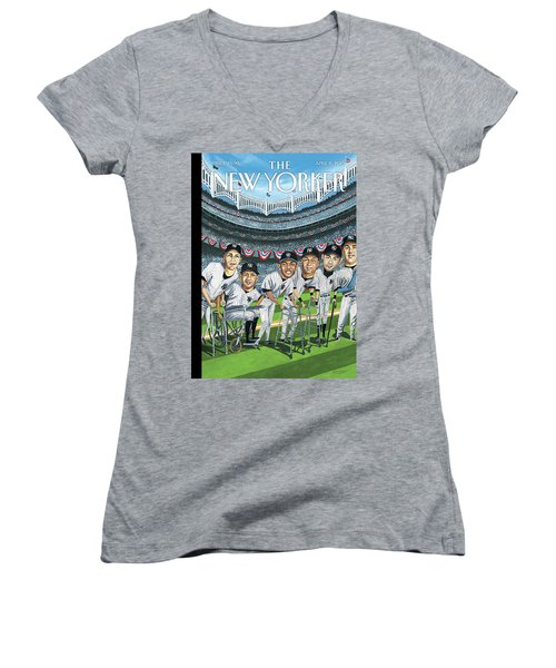 New Yorker April 8th, 2013 Women's V-Neck T-Shirt