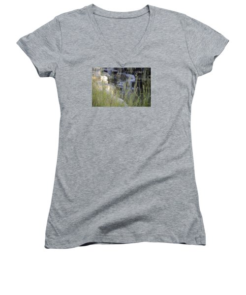 Women's V-Neck T-Shirt (Junior Cut) featuring the photograph Water Is Life 2 by Teo SITCHET-KANDA