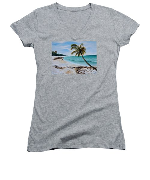 West Of Zanzibar Women's V-Neck (Athletic Fit)