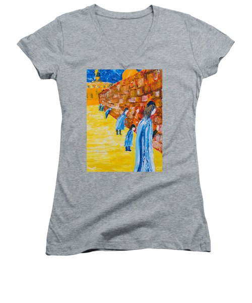 Western Wall Women's V-Neck (Athletic Fit)