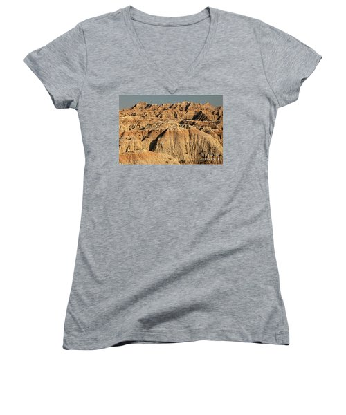 White River Valley Overlook Badlands National Park Women's V-Neck (Athletic Fit)