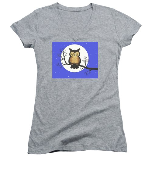 Whooo You Lookin' At Women's V-Neck