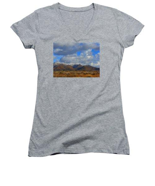 Winter In Golden Valley Women's V-Neck T-Shirt