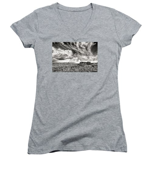 Written In The Wind Women's V-Neck T-Shirt
