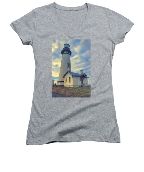 Yaquina Head Lighthouse Women's V-Neck T-Shirt