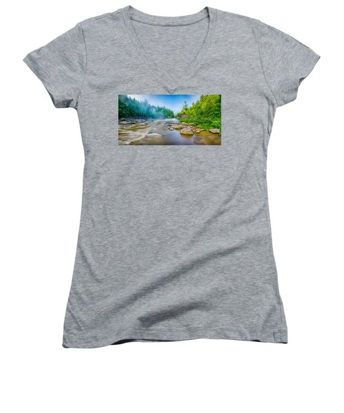 Youghiogheny River A Wild And Scenic Women's V-Neck (Athletic Fit)
