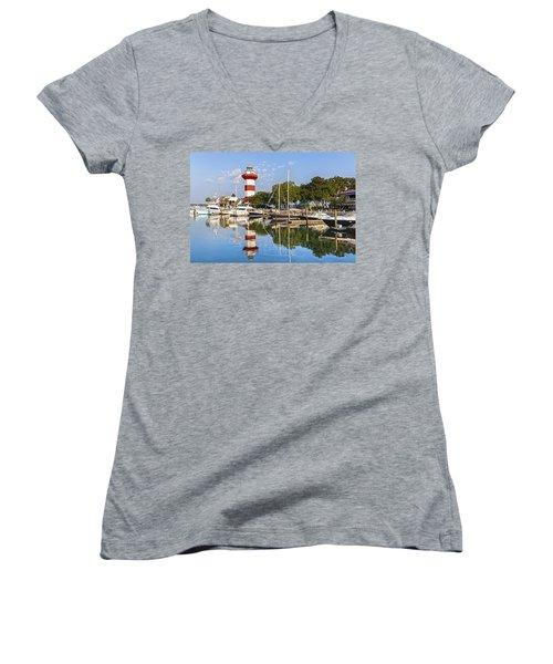 Lighthouse On Hilton Head Island Women's V-Neck