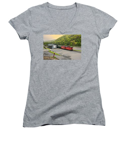 Cass Scenic Railroad Women's V-Neck