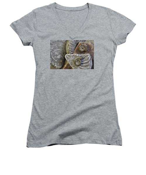 Women's V-Neck T-Shirt (Junior Cut) featuring the photograph 130109p053 by Arterra Picture Library