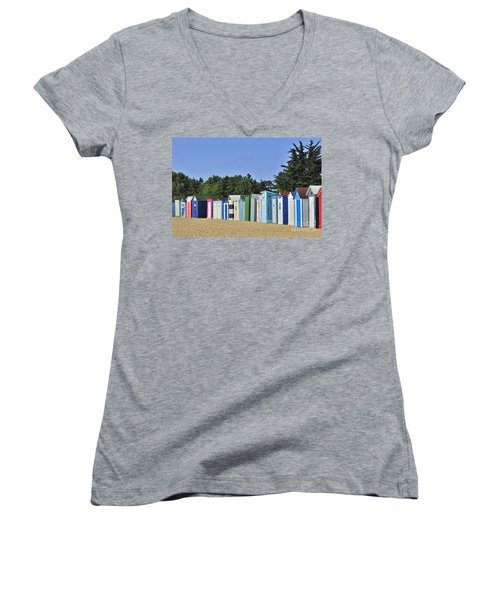 Women's V-Neck T-Shirt (Junior Cut) featuring the photograph 130109p082 by Arterra Picture Library