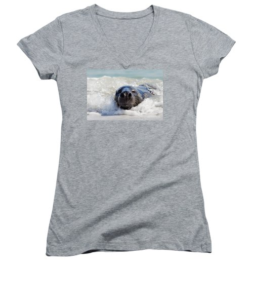 Women's V-Neck T-Shirt (Junior Cut) featuring the photograph 130201p142 by Arterra Picture Library