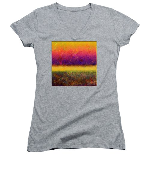 1395 Abstract Thought Women's V-Neck T-Shirt
