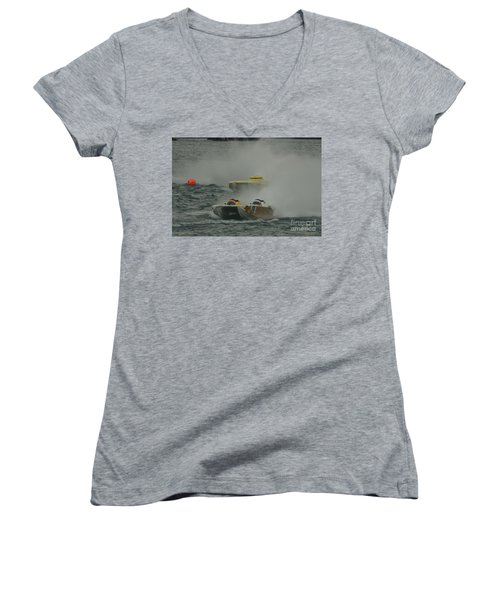 Port Huron Sarnia International Offshore Powerboat Race Women's V-Neck T-Shirt