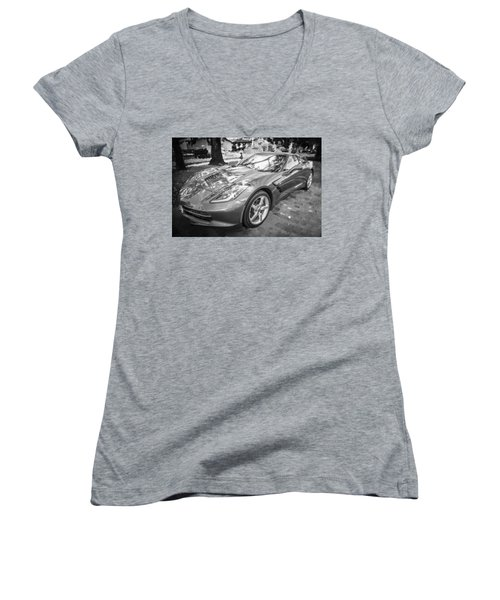 2014 Chevrolet Corvette C7 Bw   Women's V-Neck (Athletic Fit)