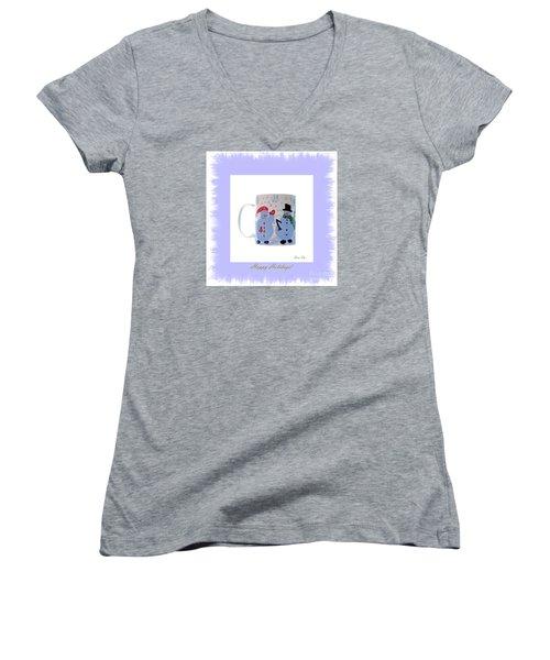 Happy Holidays. Women's V-Neck T-Shirt