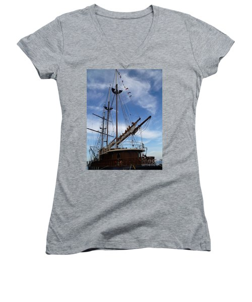 1812 Tall Ships Peacemaker Women's V-Neck (Athletic Fit)