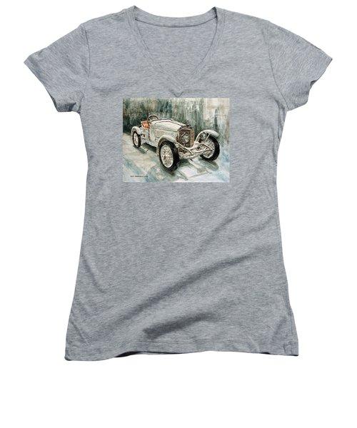 1923 Mercedes Ps Sport- Zweisitzer Women's V-Neck T-Shirt