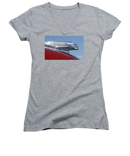 1939 Pontiac Hood Ornament Women's V-Neck T-Shirt