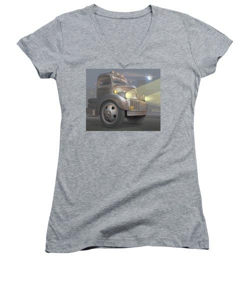 1946 Chevy Coe Women's V-Neck T-Shirt